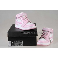 Nike Air Jordan 1 Kids White Pink Shoes 格安特別