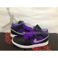 本物の Nike Air Jordan 1 Mens Black Court Purple High Top Dmp 60 Pack Shoes