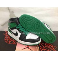 本物の Nike Air Jordan 1 Mens Celtic Green Black White High Top Dmp 60 Pack Shoes
