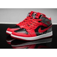 割引販売 Nike Air Jordan 1 Womens 2014 Red Black Shoes