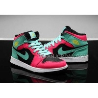 割引販売 Nike Air Jordan 1 Womens 2014 Red Green Black Shoes