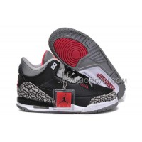 Nike Air Jordan 3 Kids 2014 Grey Black Red Shoes 本物の