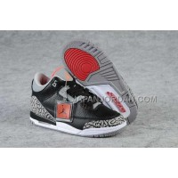 Nike Air Jordan 3 Kids Black Grey Red Shoes 格安特別