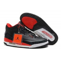 Nike Air Jordan 3 Mens Black Red Shoes 割引販売