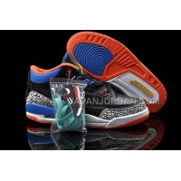 格安特別 Nike Air Jordan 3 Mens Retro Royal Blue Black CeMenst Grey Orange Shoes