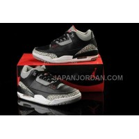 格安特別 Nike Air Jordan 3 Womens Black Grey Shoes