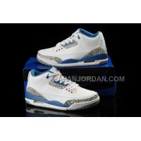 格安特別 Nike Air Jordan 3 Womens Blue White Shoes