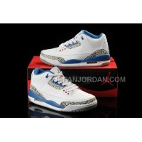 格安特別 Nike Air Jordan 3 Womens White Blue Shoes