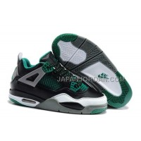 Nike Air Jordan 4 Kids Black Green Grey Shoes 本物の