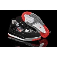 Nike Air Jordan 4 Kids Black Grey Red Shoes 格安特別