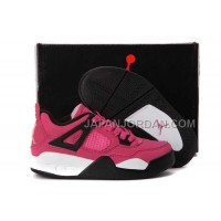 本物の Nike Air Jordan 4 Kids Pink Black Shoes