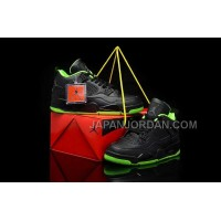 格安特別 Nike Air Jordan 4 Mens All Black Green Shoes