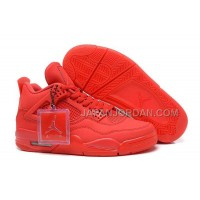 格安特別 Nike Air Jordan 4 Mens All Red Shoes