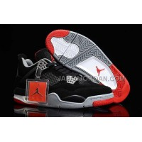 格安特別 Nike Air Jordan 4 Mens Anti Fur Black Grey Red Shoes