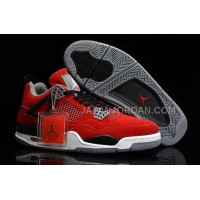格安特別 Nike Air Jordan 4 Mens Anti Fur Red Black Grey Shoes