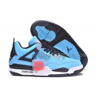 格安特別 Nike Air Jordan 4 Mens Blue Black White Shoes