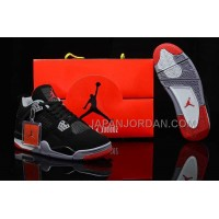 格安特別 Nike Air Jordan 4 Mens Bulls Black Grey Red Shoes