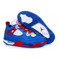 格安特別 Nike Air Jordan 4 Mens Captain America Blue Red White Shoes