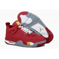 格安特別 Nike Air Jordan 4 Mens King Collect Edition Red Grey Shoes