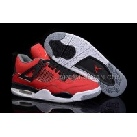 格安特別 Nike Air Jordan 4 Mens Red Black White Shoes