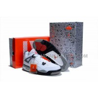 格安特別 Nike Air Jordan 4 Mens Retro Limited Edition White Black Grey Shoes