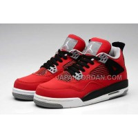 格安特別 Nike Air Jordan 4 Womens Anti Fur Red Black Shoes