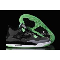 格安特別 Nike Air Jordan 4 Womens Black Grey Jade Shoes