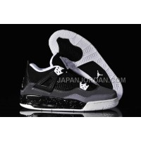 格安特別 Nike Air Jordan 4 Womens Black Grey White Shoes