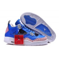 格安特別 Nike Air Jordan 4 Womens Blue White Shoes