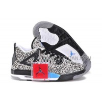 格安特別 Nike Air Jordan 4 Womens Burst Crack Limited Edition Black White Blue Shoes