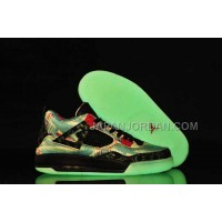 格安特別 Nike Air Jordan 4 Womens Maple Glow Limited Edition Black Blue Red Shoes