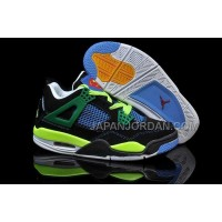 格安特別 Nike Air Jordan 4 Womens Official Black Green Blue Shoes