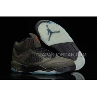 格安特別 Nike Air Jordan 5 Mens 2014 Anti Fur Brown Black Shoes