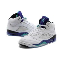 格安特別 Nike Air Jordan 5 Mens Engraved Hardcover Edition White Black Purple Shoes
