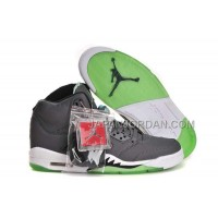 割引販売 Nike Air Jordan 5 Mens New Style Grey White Green Shoes
