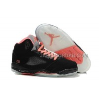 格安特別 Nike Air Jordan 5 Womens Black Pink Silver Shoes