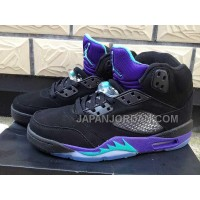 格安特別 Nike Air Jordan 5 Womens Black Purple Shoes