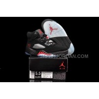 格安特別 Nike Air Jordan 5 Womens Black Red Shoes