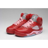 格安特別 Nike Air Jordan 5 Womens DMP Edition Red Pink Shoes