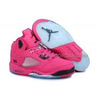 格安特別 Nike Air Jordan 5 Womens Pink Black Shoes