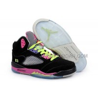 格安特別 Nike Air Jordan 5 Womens V DMP Edition Black Pink Shoes
