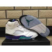 格安特別 Nike Air Jordan 5 Womens V White New Emerald Grape Ice Blue Shoes