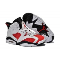 本物の Nike Air Jordan 6 Kids White Red Black Shoes