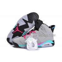 割引販売 Nike Air Jordan 6 Mens Couple Grey Black Pink Shoes