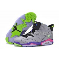 割引販売 Nike Air Jordan 6 Mens Mandarin Duck Couple Grey Puprple Shoes