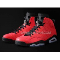割引販売 Nike Air Jordan 6 Mens Red Black Shoes