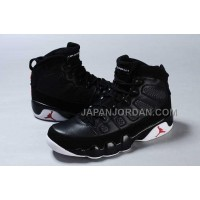 割引販売 Nike Air Jordan 9 Mens Black White Shoes