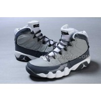 割引販売 Nike Air Jordan 9 Mens Grey White Shoes