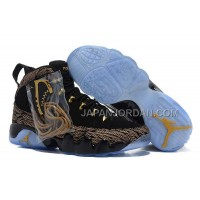 割引販売 Nike Air Jordan 9 Mens New Style Black Gold Shoes