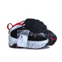 割引販売 Nike Air Jordan 9 Mens New Style Black Silver Red Shoes